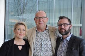 Från vänster Miriam Dovrén, Kai Christensen och Andreas Karlsson, alla engagerade i Stora Planteringsveckan